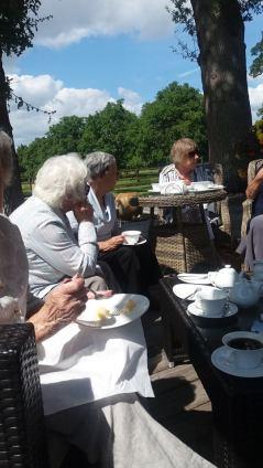 Enjoying Tea and Cake at Stalls, Preston on Stour