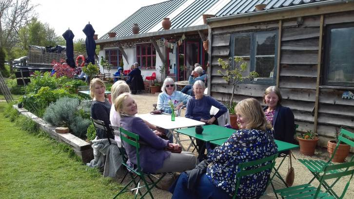Tea and Cake at the Straw Hat Cafe, Whichford